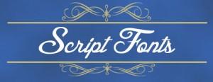 script fonts icon
