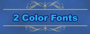 2 color fonts icon