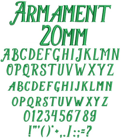 armament keyboard font