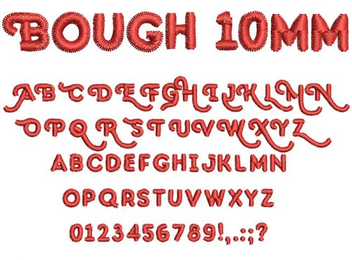 bough keyboard font letters