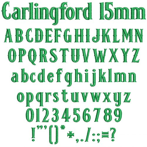 carlingford keyboard font letters