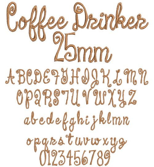 coffee drinker keyboard font letters