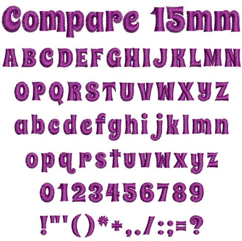 compare keyboard font letters