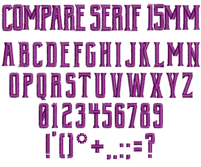 compare serif keyboard font letters