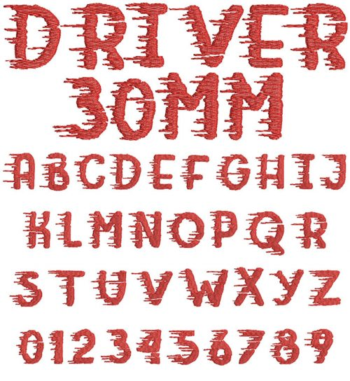 driver keyboard font letters