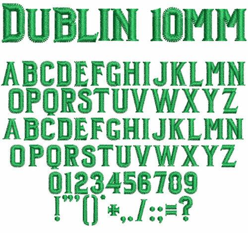 dublin keyboard font letters