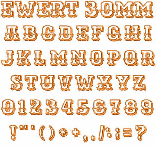 Ewert 30mm Font