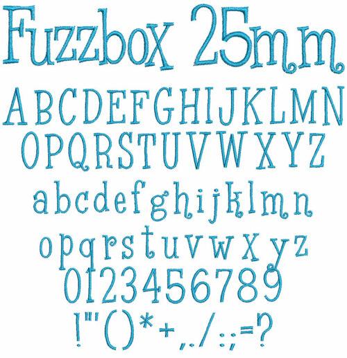 fuzzbox keyboard font letters