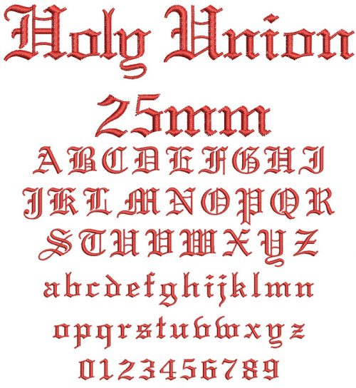 holy union keyboard font letters