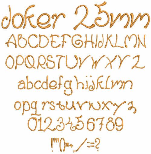 joker keyboard font letters