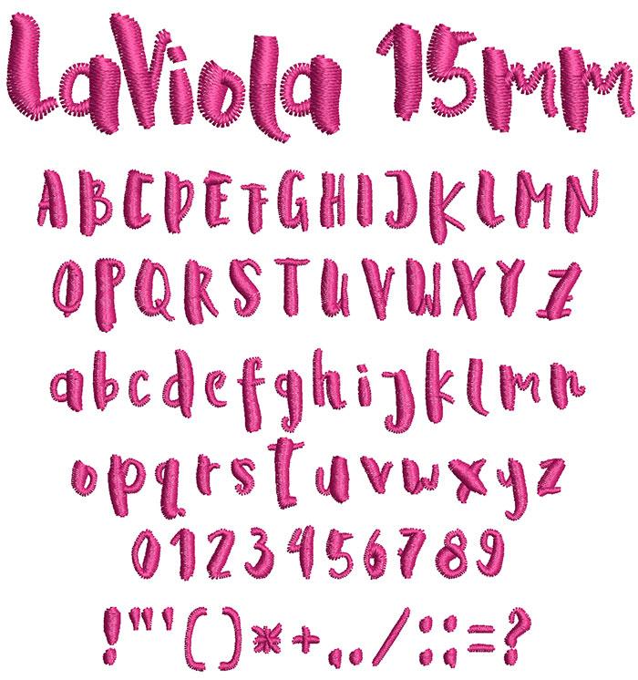 laviola keyboard font letters