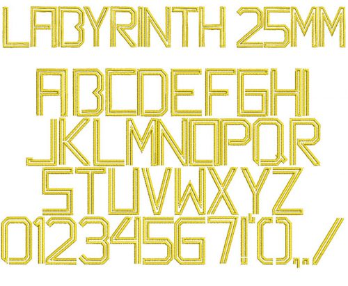 labyrinth keyboard font letters