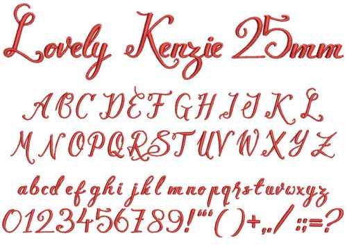 lovely kenzie keyboard font letters