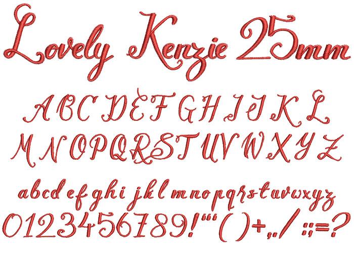 lovely kenzie keyboard font letters