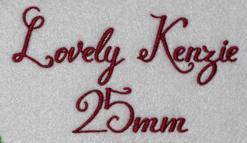 Lovely Kenzie 25mm Font