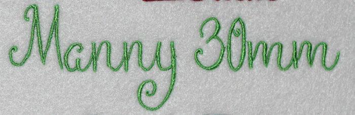 Manny 30mm Font