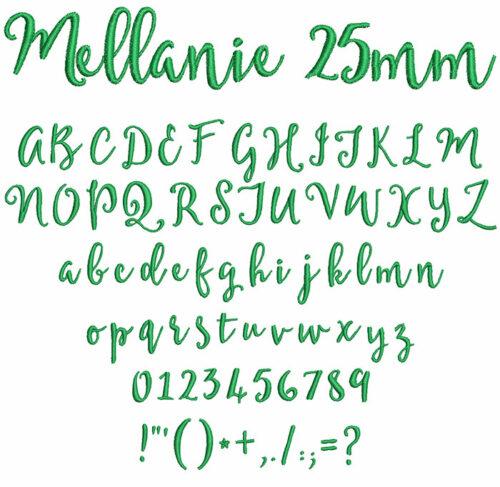 mellanie keyboard font letters