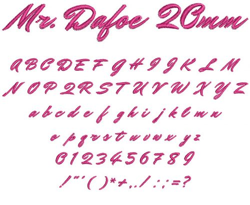 mr. dafoe keyboard font letters