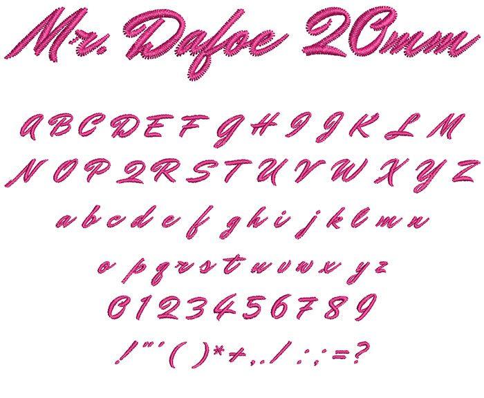 mr. dafoe keyboard font letters