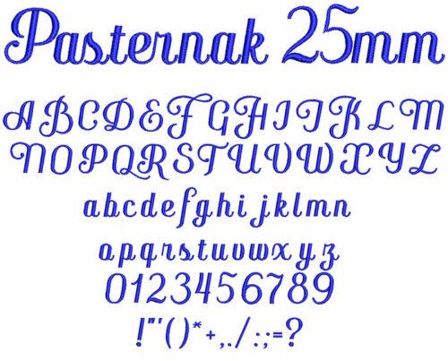 pasternak keyboard font letters