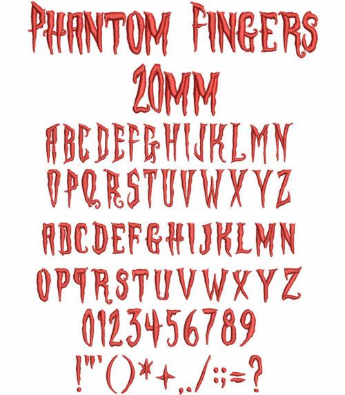phantom fingers keyboard font letters