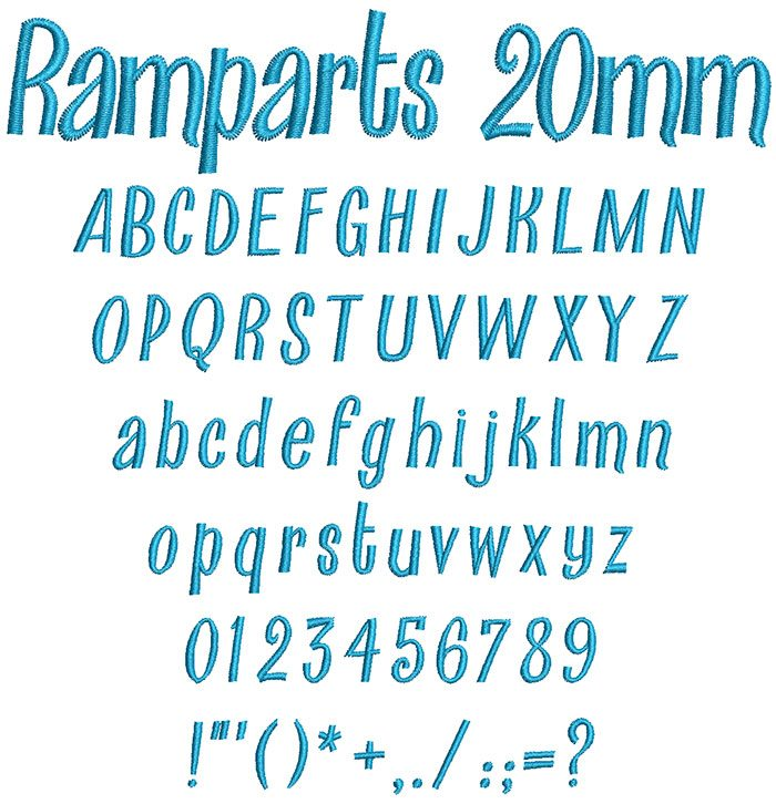 ramparts keyboard font letters