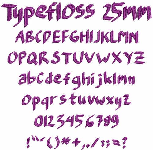 typefloss keyboard font letters