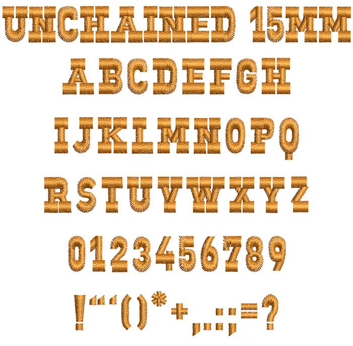 unchained keyboard font lettering