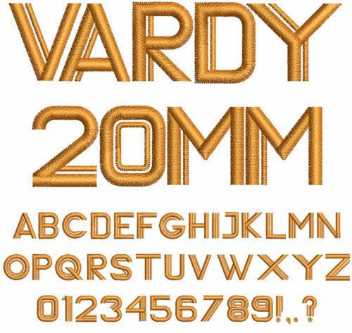 vardy keyboard font letters