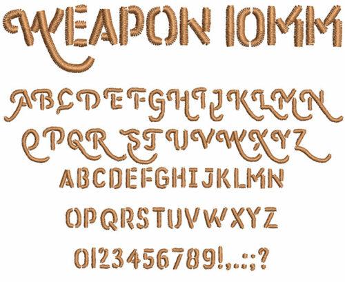 weapon keyboard font lettering
