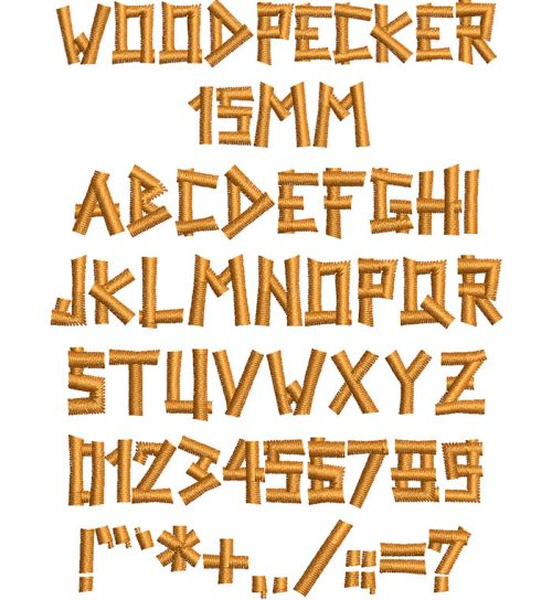 woodpecker keyboard font letters
