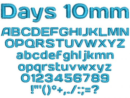 Days ESA Keyboard font letters icon
