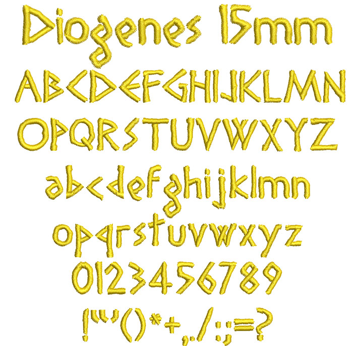 Diogenes ESA keyboard font letters icon
