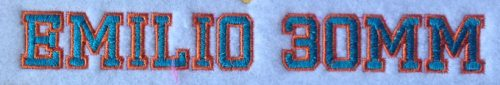 Emilio 2 Color 30mm Font