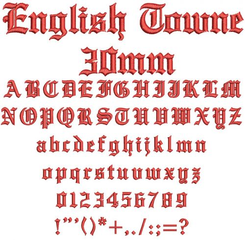 English Towne ESA Keyboard font letters icon