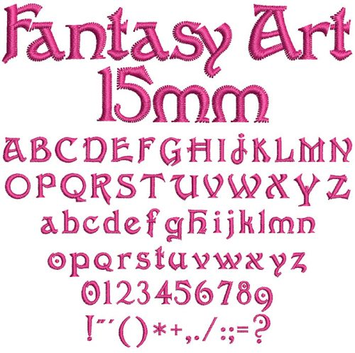 Fantasy Art 15mm Font