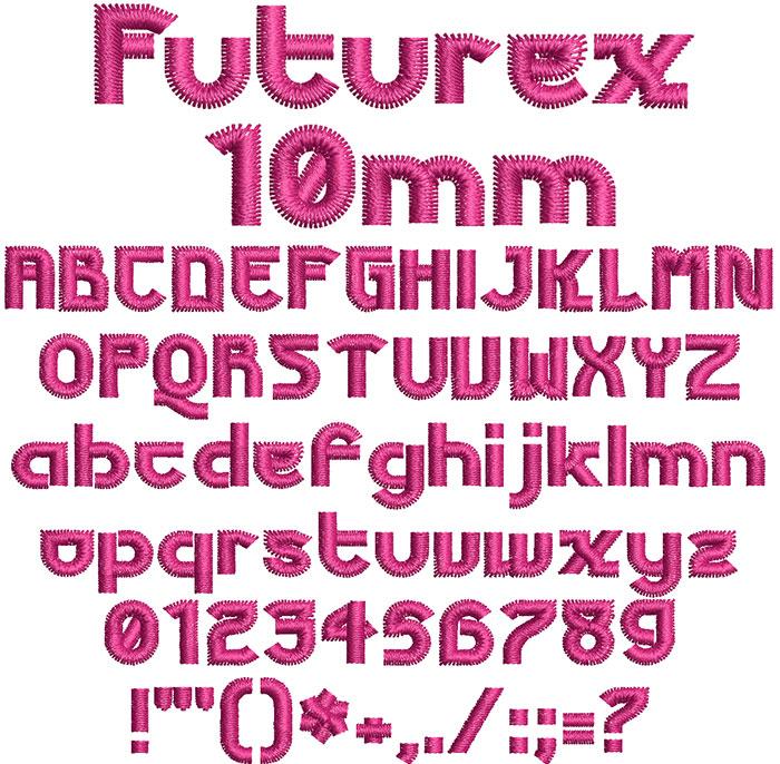 Futurex esa keyboard font letters icon
