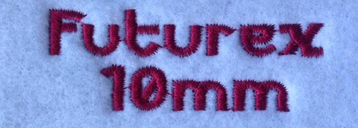 Futurex 10mm Font
