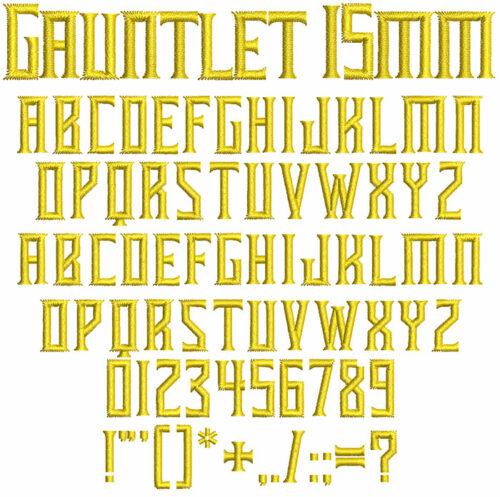 Gauntlet keyboard font icon