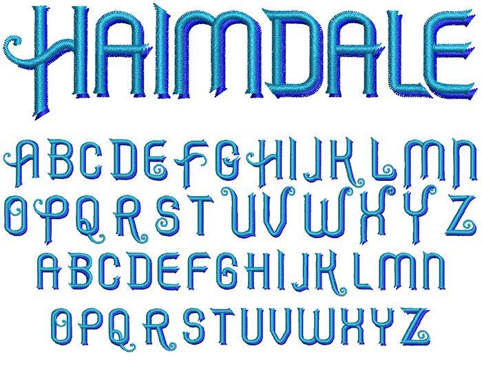 Haimdale keyboard font letters icon