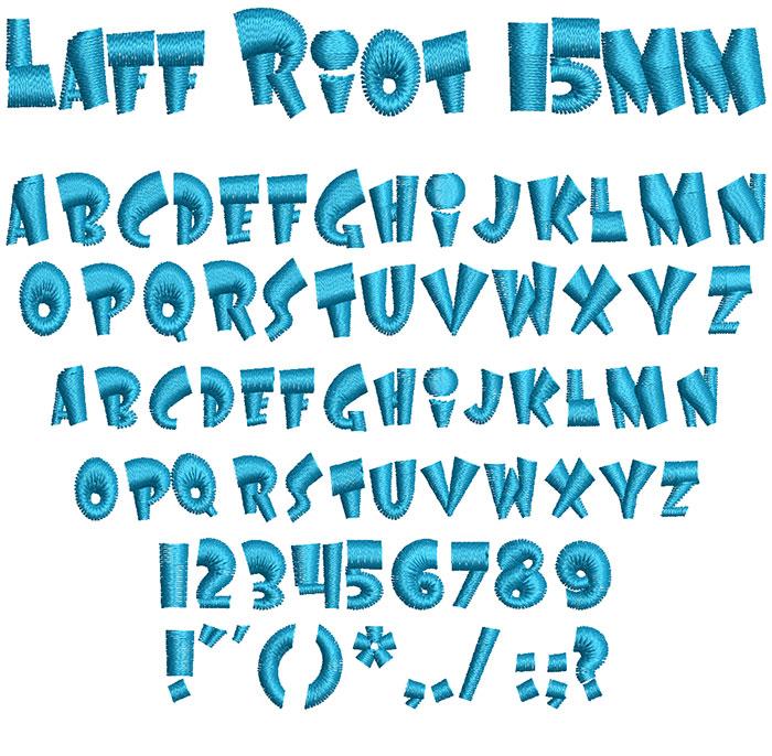Laff Riot 15mm Font