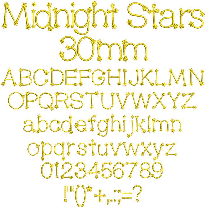 Midnight Stars 30mm Font