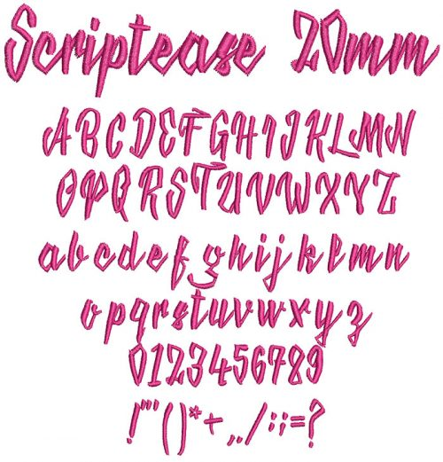 Scriptease keyboard font letters icon