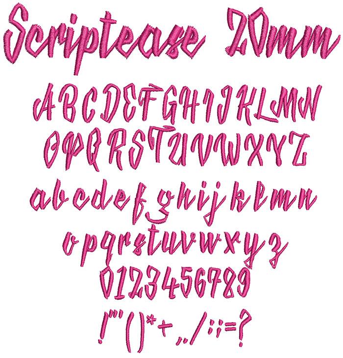 Scriptease keyboard font letters icon