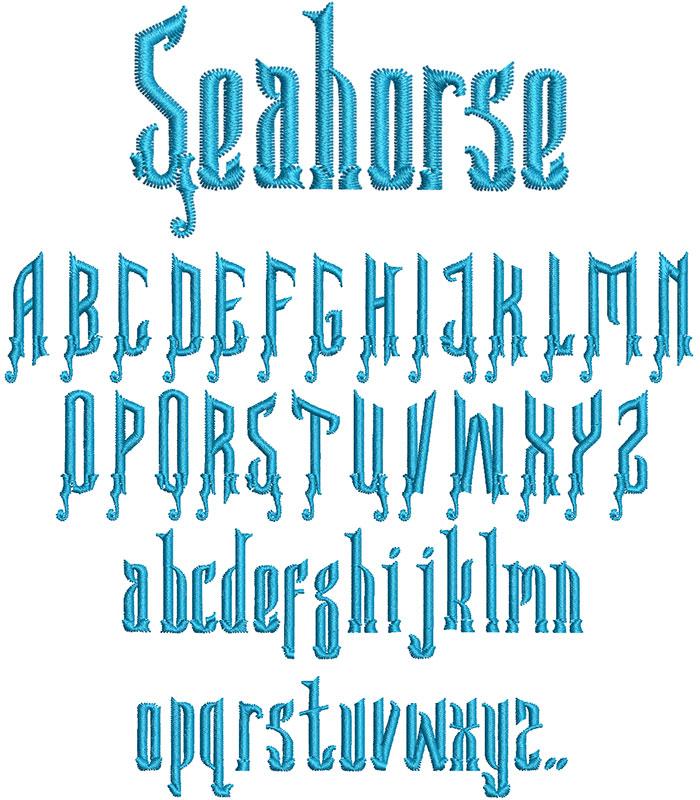 Seahorse 30mm Font