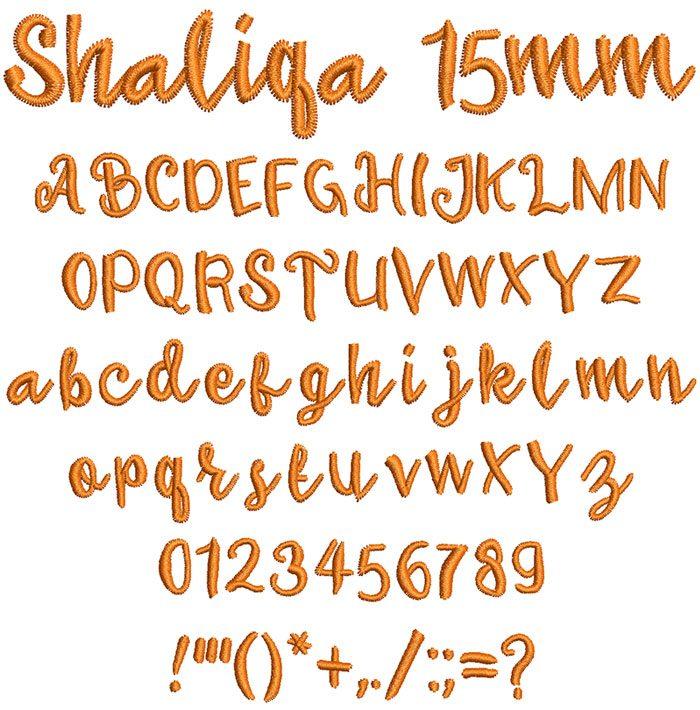 Shaliqa 15mm Font