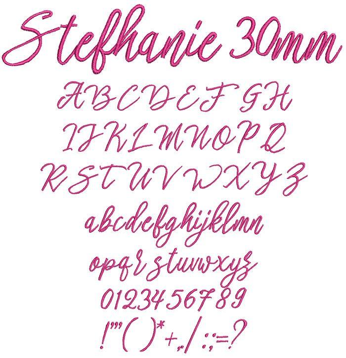 Stefhanie 30mm Font