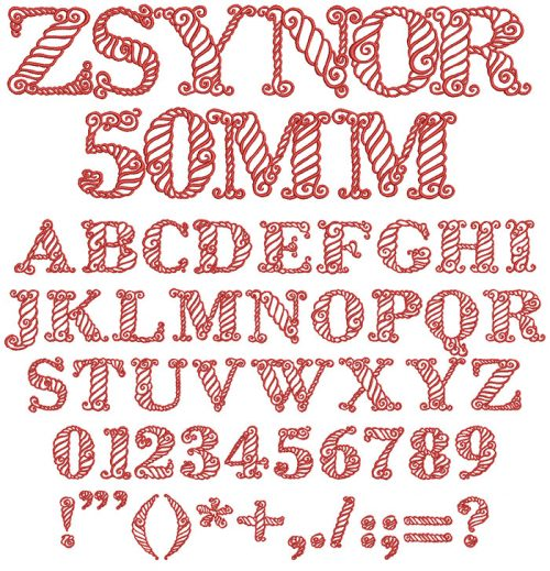 Zsynor ESA Keyboard font letters