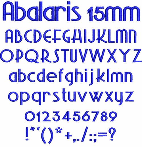 Abalaris 15mm Font