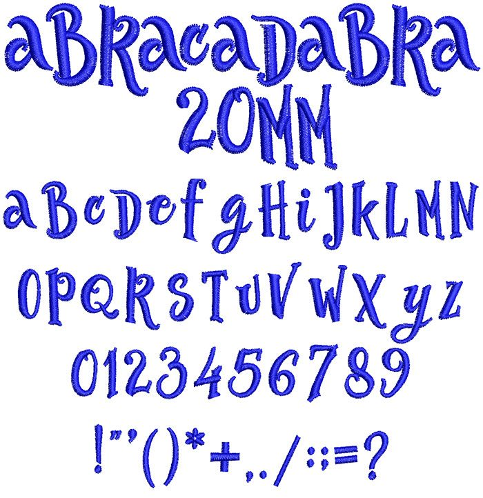 Abracadabra 20mm Font